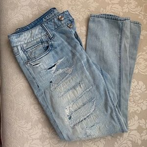 •American eagle ripped full length jeans